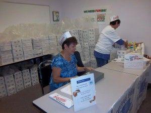 volunteers selling in office