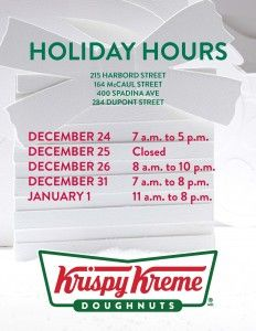 Holiday Hrs Toronto Cafe's 2018